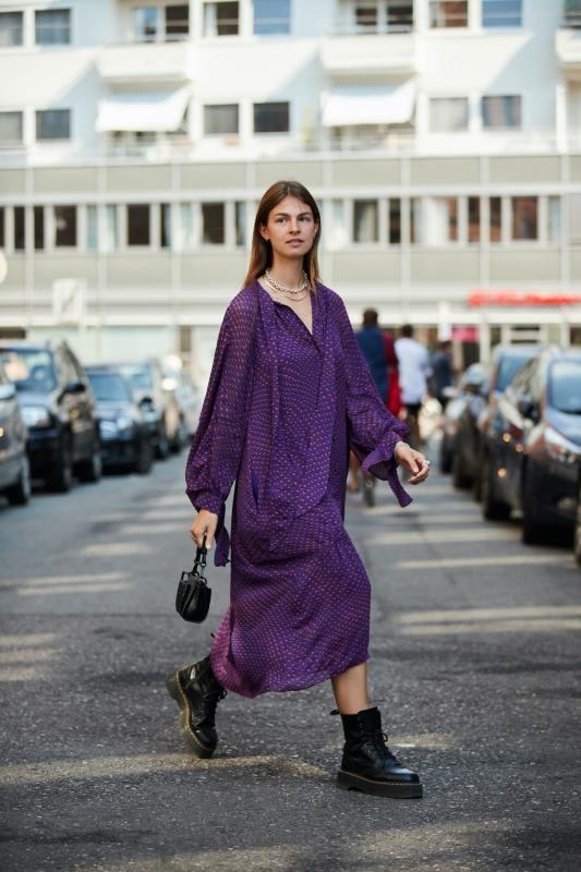Fiolet w modzie wiosną i latem 2021